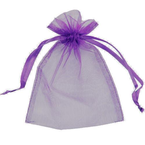 5 Organza Sacs Cadeau Pochettes Bijoux Emballage Cadeau Wrap Mesh cordon de UK