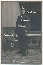 Kabinettfoto-Perleberg-Offizier-Artillerie-Pickelhaube (c804)
