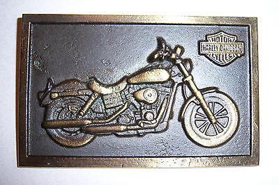 "Harley Davidson VRSC brass plaque 4 1//8/"" x 2 5//8/"""