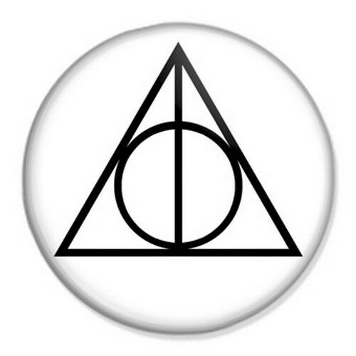 Harry Potter Deathly Hallows Symbol 25mm 1 Pin Badge Button J K