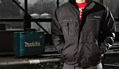 REDUCED Makita DXT Waterproof Jacket Mobile Pocket Warm Black Work Casual M-XXL