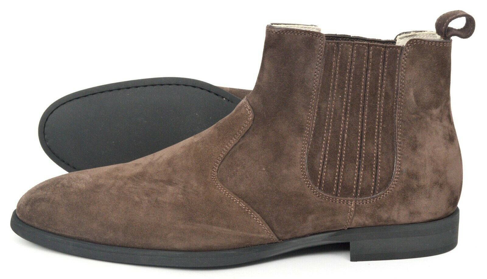 New KITON Mick Brown Suede Calfskin Leather Boots Shoes 9.5 (EU 42.5)