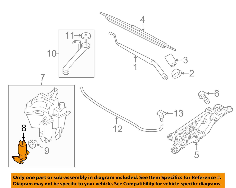 Genuine Nissan 28920-EL00A Windshield Washer Pump Assembly