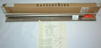 """Pottery Barn Daily System 24/"""" Top Display Rod Pewter Silver Finish Complete NEW!"""