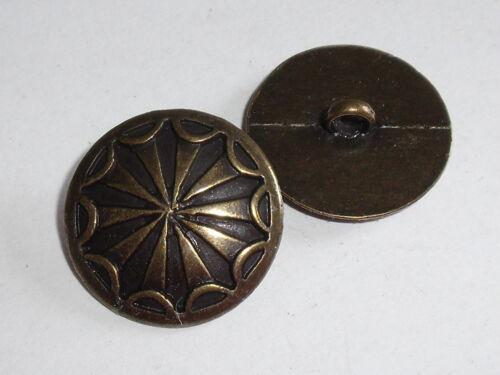 6 Stück Metallknöpfe Knopf Ösenknopf Knöpfe 18,5 mm altmessing NEU rostfrei 0279