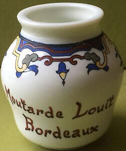 HonnêTe Pot A Moutarde Louit Bordeaux FaÏence