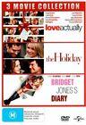 Love Actually The Holiday Bridget Jones's Diary 3 Discs DVD R4 BRAND N