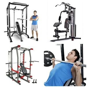 Pro Full Cage and Weight Bench Personal Home Gym Total Body Workout System