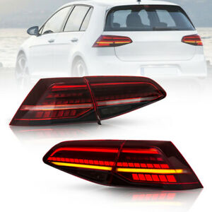 LED Tail Light For VW Golf 7 2013-2017 MK7 MK VII Sequential Indicator Rear Lamp