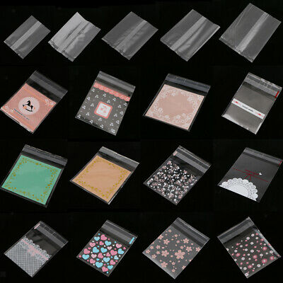100 Transparente Cellophan Zellglasbeutel Geschenkbeutel selbstklebend Für