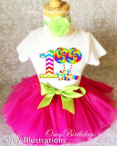 Image Is Loading Candyland Candy Rainbow Pink Baby Girl 1st First