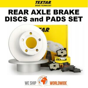 TEXTAR Rear Axle BRAKE DISCS + PADS SET for PEUGEOT 307 Break 2.0 2002-2005