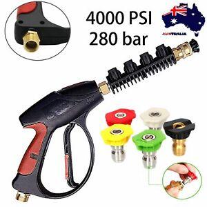 4000PSI Car Cleaner Spray Gun High Pressure Washer Water Lance Brass Nozzle Wand