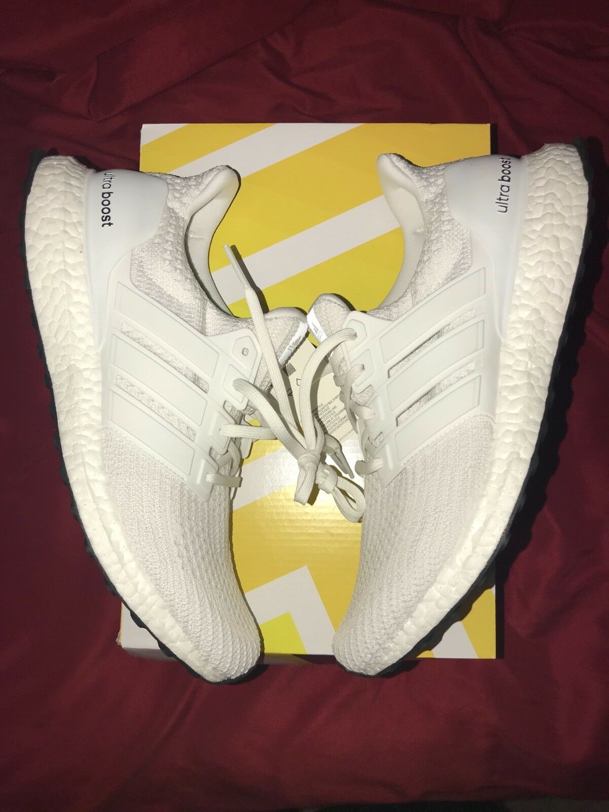 Adidas ultraboost all white mens size 10 DS never worn
