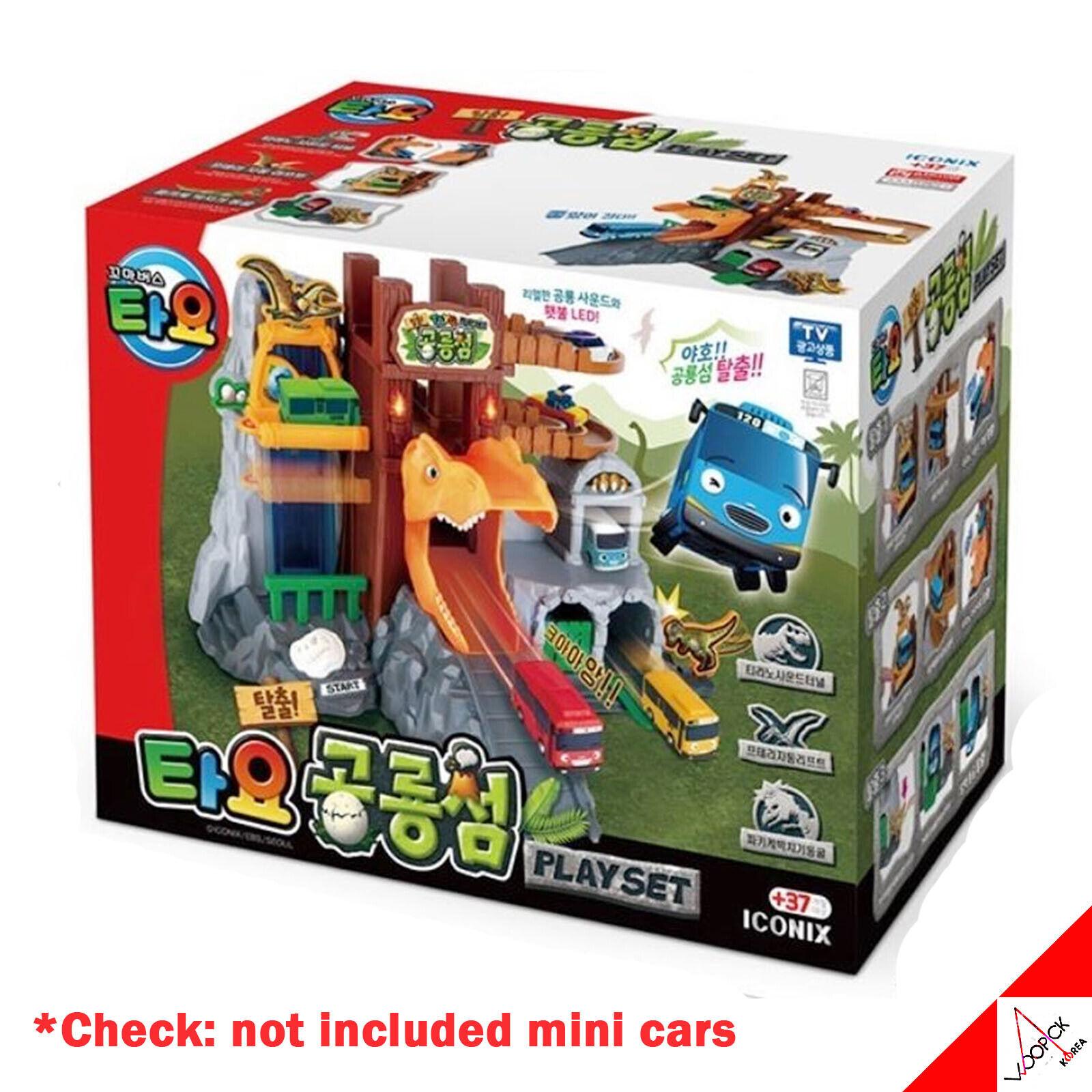 Tayo liten buss DINISAUR ISLAND spela Set barnleksak (ingår inte minibilar)
