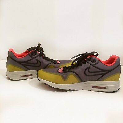Nike Air Max 1 Ultra 2.0 SI Womens 881103 001 Grey Yellow Running Shoes Size 6.5 | eBay