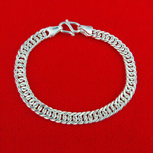 5bc7c36610e Hot Sale Pure S990 Sterling Silver Chain Men Women Baby Curb Link ...