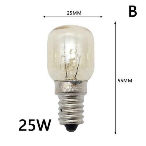 15W 220 25W D7B9 E14 Backofen Lampen Herd Hitzebeständige Glühlampe 240V