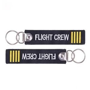 Flight-Crew-Keychain-Keyring-Embroidery-Luggage-Tag-Motorcycle-Key-Chain-Ring-be