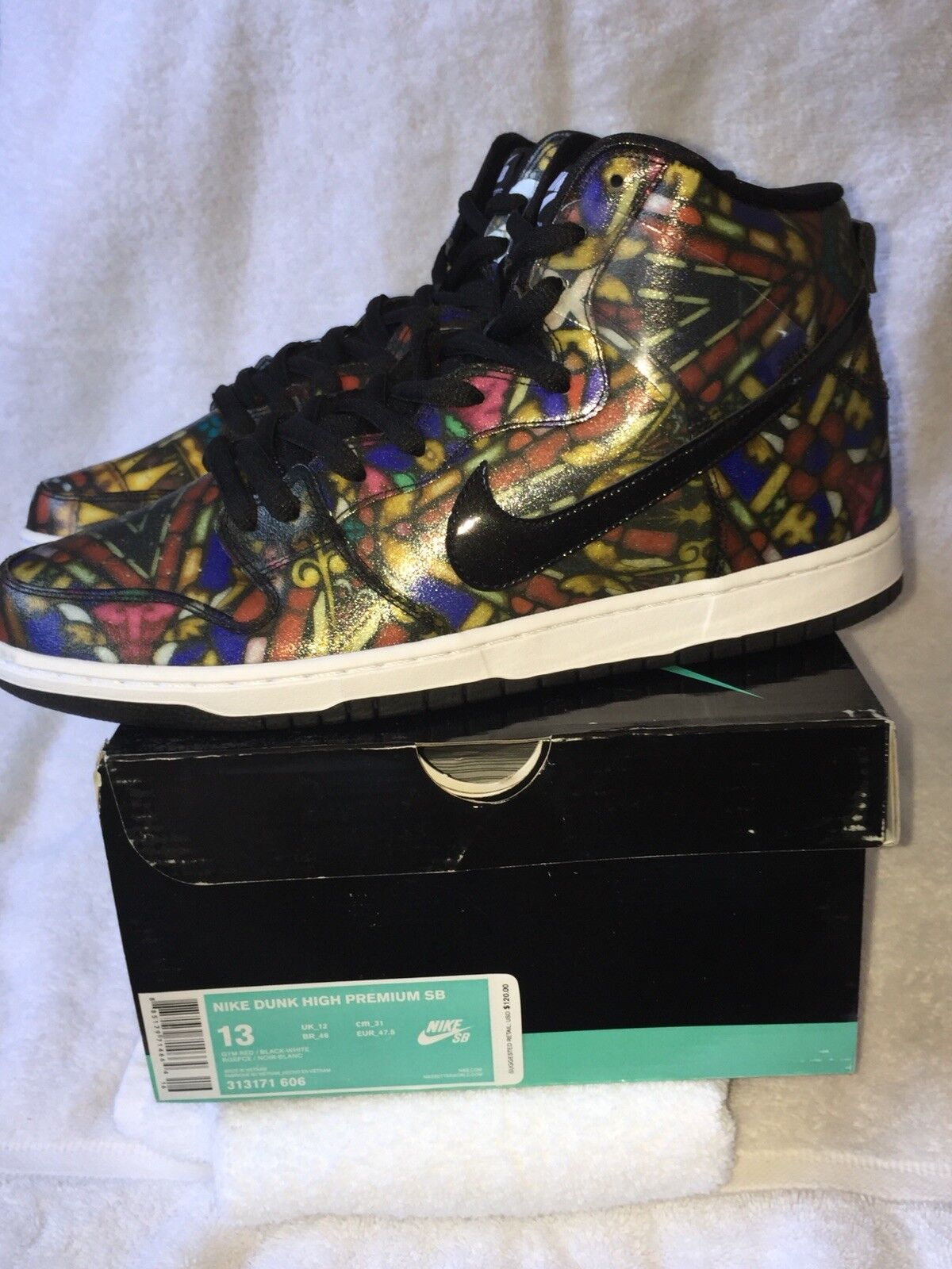 Nike Sb High Stain Glass - Concepts - Size 13 New Nib