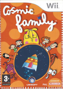 COSMIC-FAMILY-for-Nintendo-Wii-with-box-amp-manual-PAL