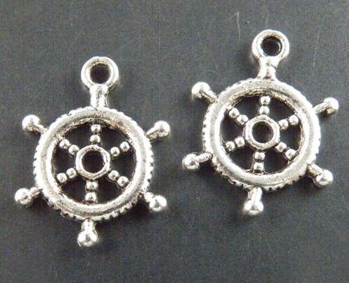 150pcs Tibetan Silver  Steering Wheel Charms Pendants 20x15x1.5mm 997