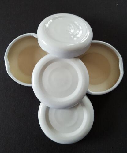 und Soßenflaschen ab 0,17 € Twist-Off-Deckel TO 38 Weiß  für Dressing
