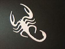 X1 3D Silver Chrome Scorpion Car Sticker Emblem Decal Badge Fun Art UK SELLER