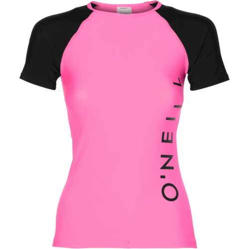 O/'NEILL WOMENS RASH TOP.SPORTS LOGO UPF50 SUN PROTECTION RASH VEST 8S 600 4091