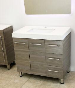 windbay 36 free standing bathroom vanity sink set vanities sink grey. Black Bedroom Furniture Sets. Home Design Ideas