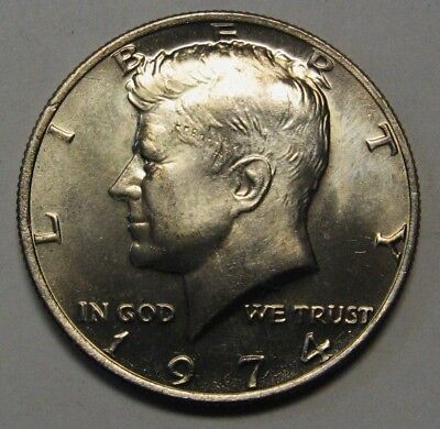 1988-D  BU  Mint State Kennedy US Half Dollar Coin