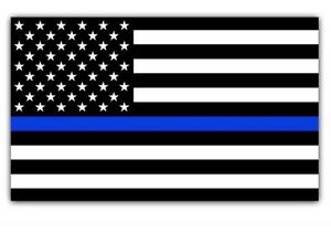 Blue Lives Matter Police USA American Thin Blue Line Flag Car Decal Sticker