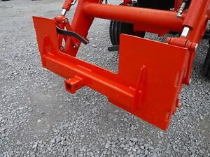 Details about Kubota Skid Steer Attachment Trailer Hitch Receiver Mount  Plate - Free Ship