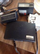 Vintage Polaroid Land Camera 360  & External Electronic Flash, Fast Charger