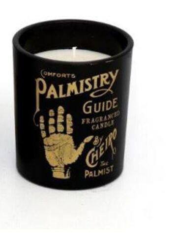Phrénologie Palmistry psychique parfumée Boho Verre Bougie Cadeau vanille santal