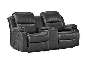 2er kinosessel schwarz mit relaxfunktion relaxsessel tv sessel heimkino kino ebay. Black Bedroom Furniture Sets. Home Design Ideas
