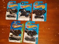 HOT WHEELS BATMOBILE set of 5 NEW the BAT, ARKHAM KNIGHT ASYLUM Batman GOTHAM