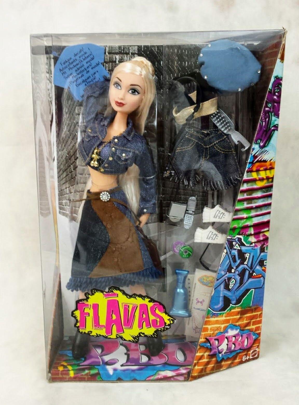 Flavas P.BO Blonde version Rapper Mattel 2003 rare BNIB
