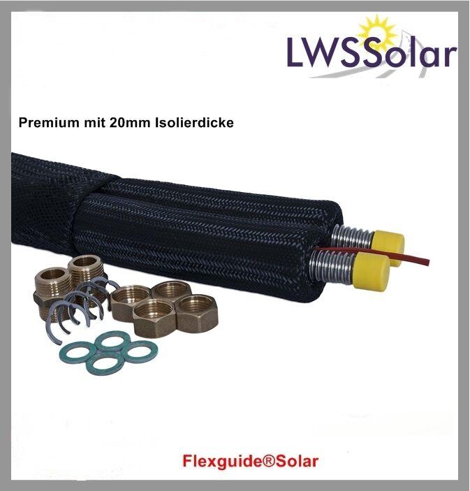 Solaranlage Solarthermie Solarleitung DN 20 - 10 m