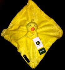 JOHN DEERE Cuddle Comfort Security Blanket Lovey Chicken Chick Yellow