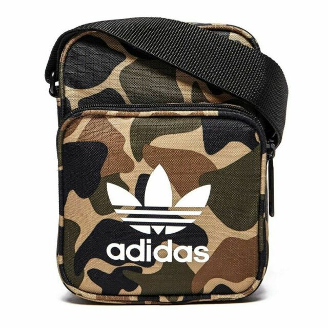 a8f94f42 adidas ORIGINALS MEN'S MINI FESTIVAL BAG CAMO TREFOIL PARKLIFE LEEDS  READING NEW