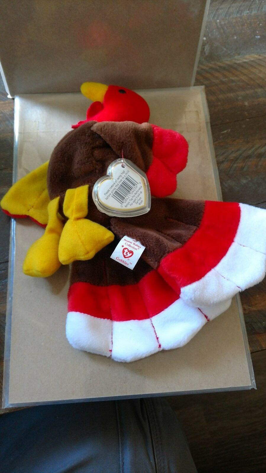 Gobble 1996 Retired Ty Very Rare Swing Tag In Perfect Condition   Never used