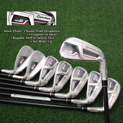 TaylorMade Golf M6 Iron Sets Choose Shaft-Steel/Graphite Flex//Set Make-Up  - NEW | eBay