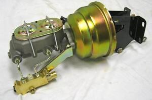 "1974-86 CJ Jeep 8/"" Dual Brake Booster Master Cylinder Kit  disc// disc"
