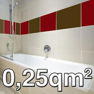 Fliesen Aufkleber für Küche & Bad Badezimmer Dusche Badewanne 0,25 ...