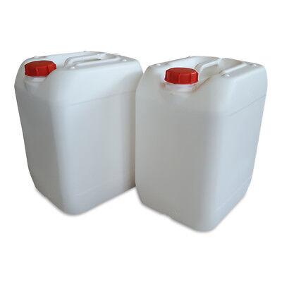 RüCksichtsvoll 2 X 20 Liter Kanister Vollweiß Camping Plastekanister Kunststoffkanister Trinkflaschen & Trinksysteme