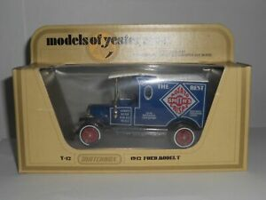 Matchbox-Models-Of-Yesteryear-Y12-1912-Ford-Model-T-Smiths-Crisps-Mint-A-A
