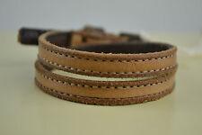Diesel Abigobbo Armband  Bracciale bracelet Used look Neu Braun Leder Leather