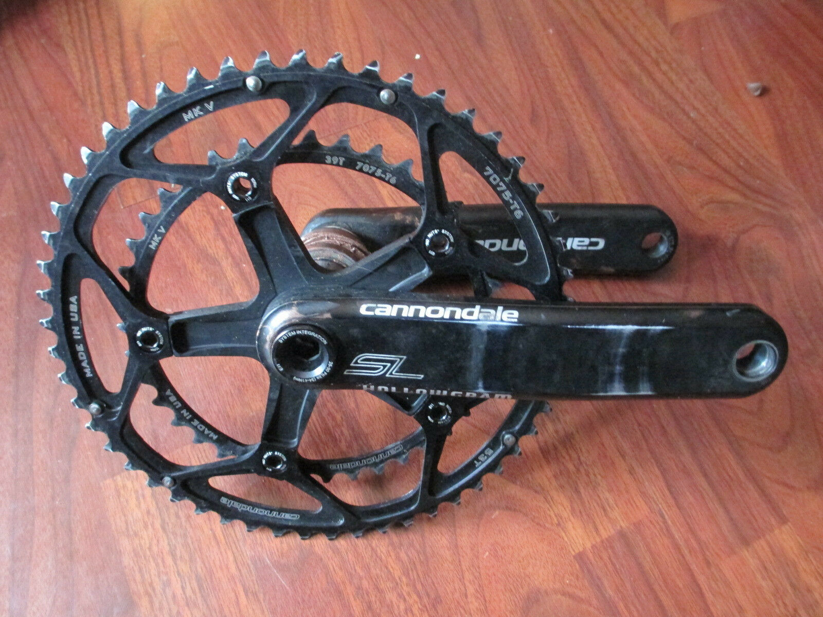 CANNONDALE HOLLOWGRAM SL 53 39 172.5 CRANK SET COMPLETE BB30  BEARINGS SPINDLE  quality first consumers first