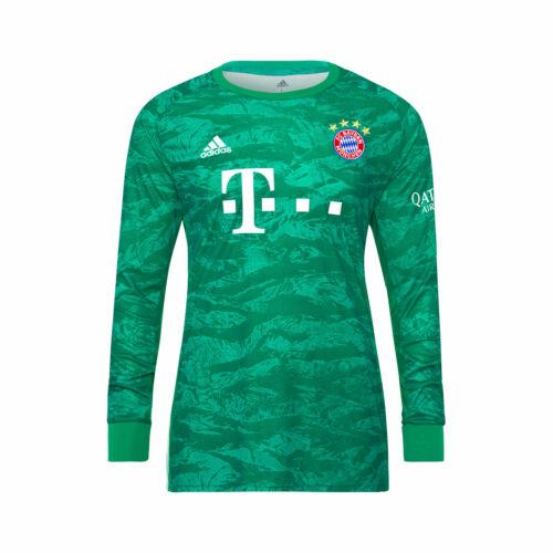 adidas Official Kids FC Bayern Munich Home Goalkeeper Football Shirt Top 2019-20
